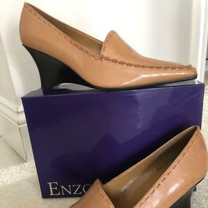 NEW Enzo Angiolini Tan leather uppers wedge heel